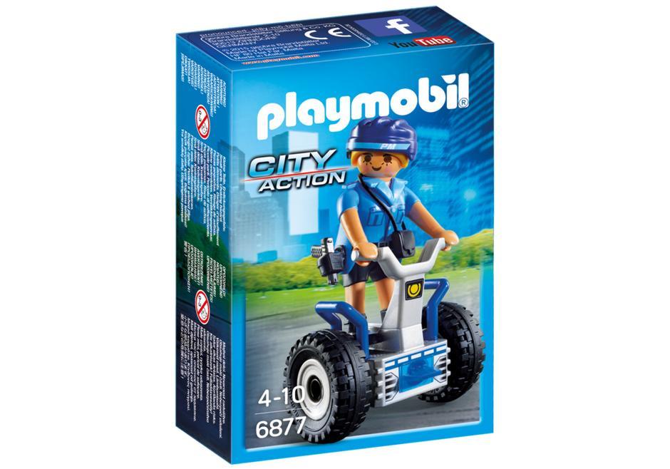 Playmobil 6877 Policewoman with Balance Racer