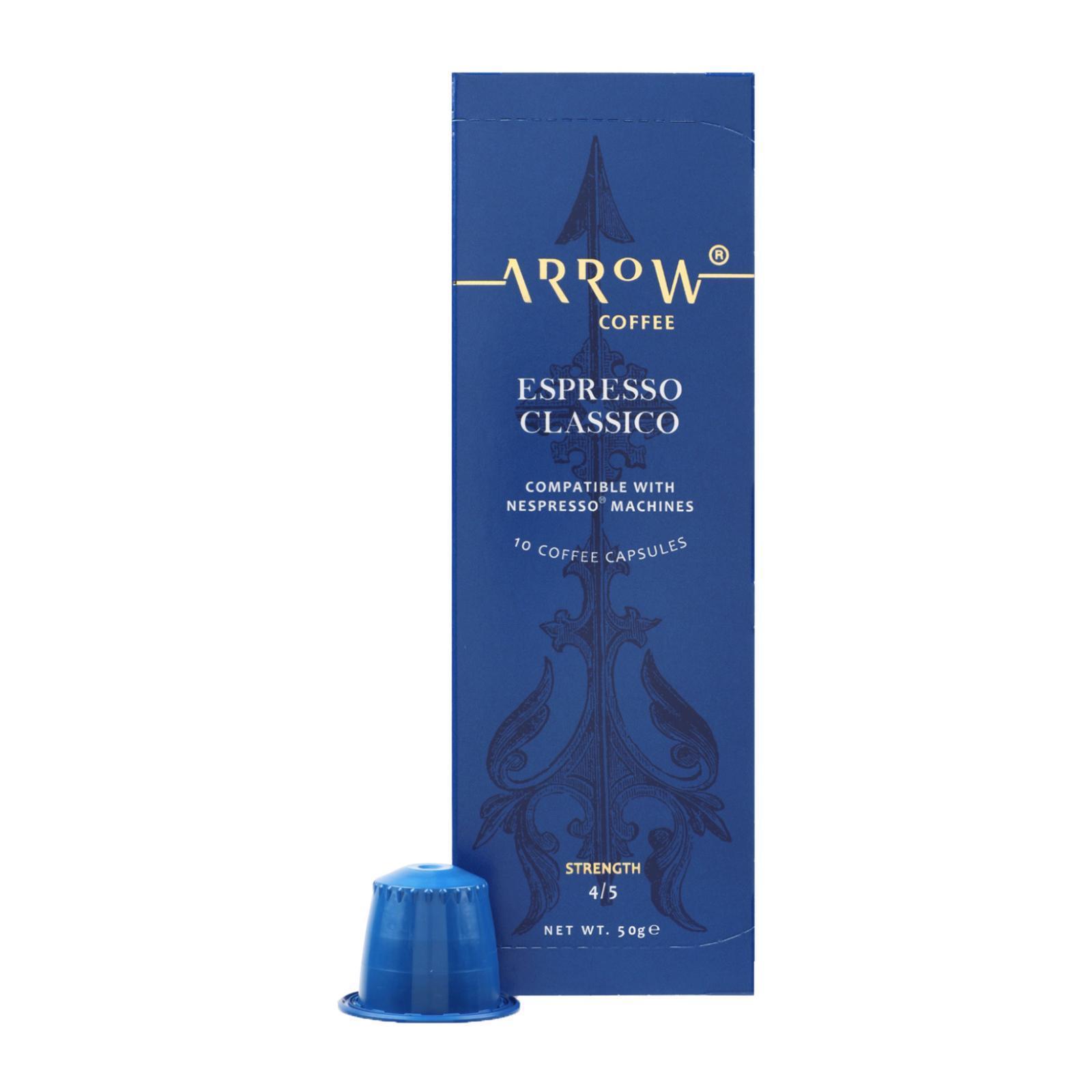 Arrow Coffee Nespresso Compatible Coffee Capsules - Espresso Decaffeinato