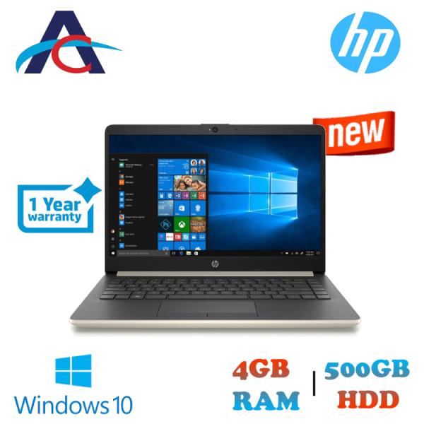 HP Notebook - 14s-cf0065tu  14 Laptop PaleGold ( Intel Celeron N4000, 4GB DDR4, 500GB, Windows 10 Home)
