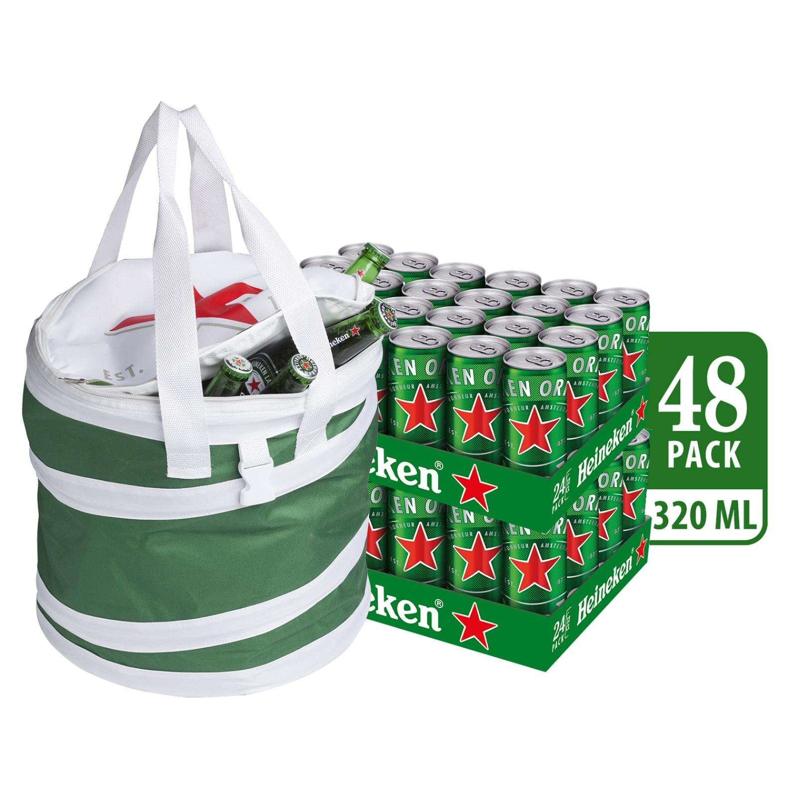 Heineken Lager Beer Can 48 x 320ml - Case