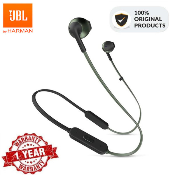 Original JBL T205BT Wireless Bluetooth Earphone Gaming Earbuds Sports Pure Harman Deep Bass Sound Music Headset Hands-free Calls for ios Android iPhone Huawei Xiaomi Samsung Oppo Vivo Singapore