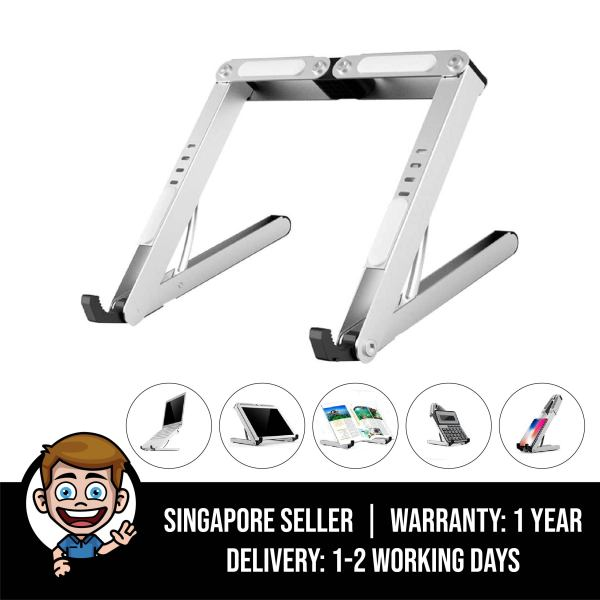 Laptop Stand, Foldable Stand for Laptop, Phone, Tablet, Book - Universal Mount, Portable, Aluminium Alloy Holder for Macbook, iPad, iPhone, Samsung Tab