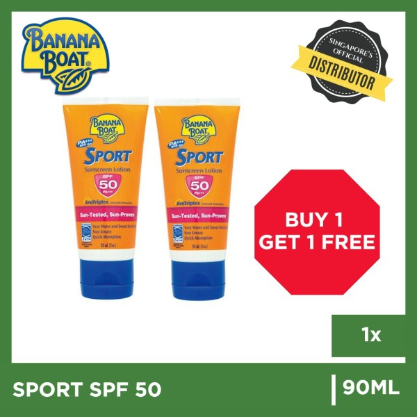 Buy BUY 1 GET 1 FREE [BananaBoat] Banana Boat Sport SPF50+ 90ml | The Grocery Co - Sunscreen Singapore