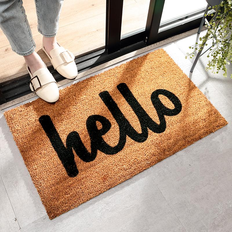 Environmentally Friendly Coconut Palm hu wai dian Safe Trip Mat Entrance Door Household Mat Gate Coaster Entrance Doormat