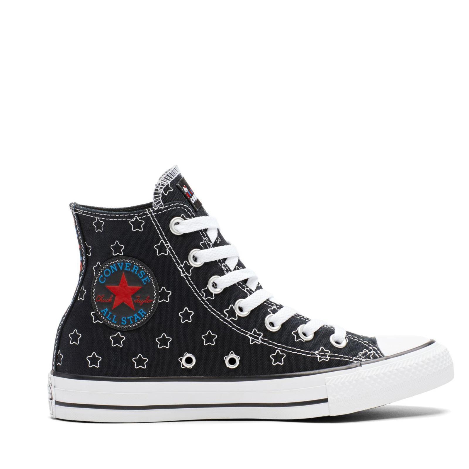50de8015dd [SALE] CONVERSE X HELLO KITTY CHUCK TAYLOR ALL STAR HI - BLACK/WHITE/  DIRECTOIRE BLUE - 163919C