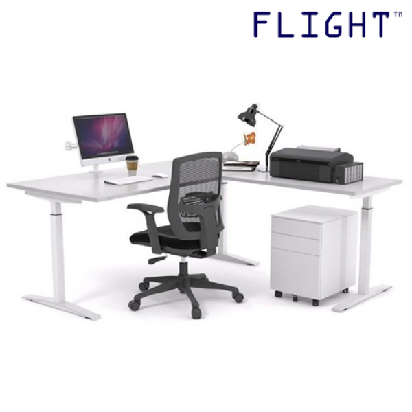 Height Adjustable Desk - Office Furniture - Workstation - Study Table - Work Table - Home Office - Ergonomic Table - HAT-LM23 - Flight