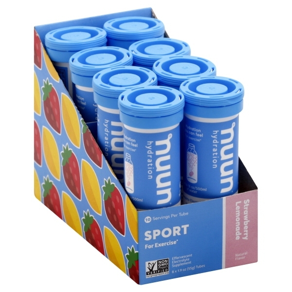 Buy Nuun Hydration Electrolytes (StrawLemonade) Box of 8 Tubes Singapore