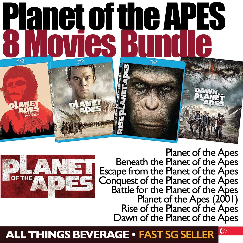 Planet Of The Apes 8 Film Bundle Blu-Ray By All Things Beverage.