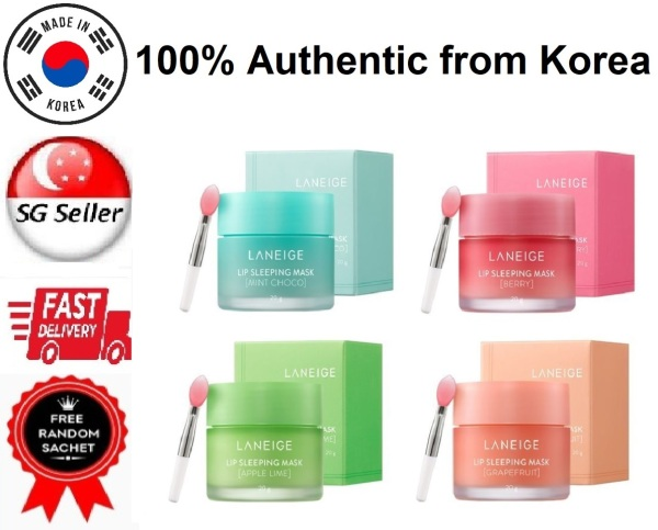 Buy *LANEIGE* LIP SLEEPING MASK BERRY (20G) SG SELLER & FAST DELIVERY *LATEST PACKAGING EXPIRY AUG 2022* AWARD WINNING KOREA BEST SELLER *OVERNIGHT HYDRATION LIP SLEEPING PACK* HEALS DRY CRACKED CHAPPED LIPS -100% AUTHENTIC BY BEAUTY BESTIE -MADE IN KOREA Singapore