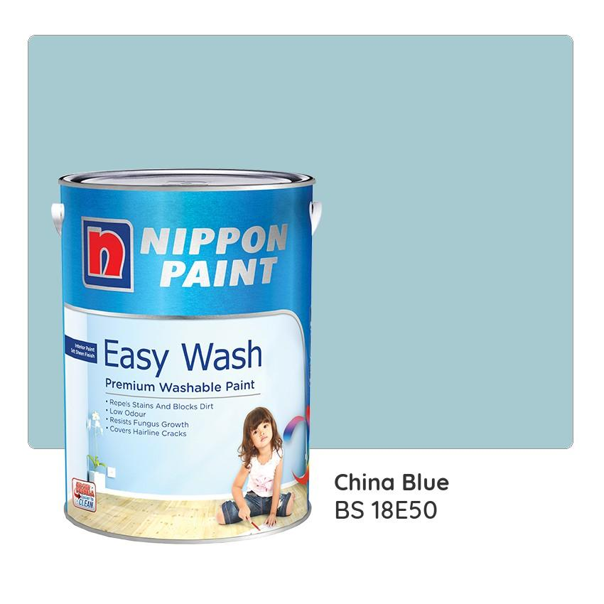 Nippon Paint Easy Wash BS 18E50 (China Blue) 1L