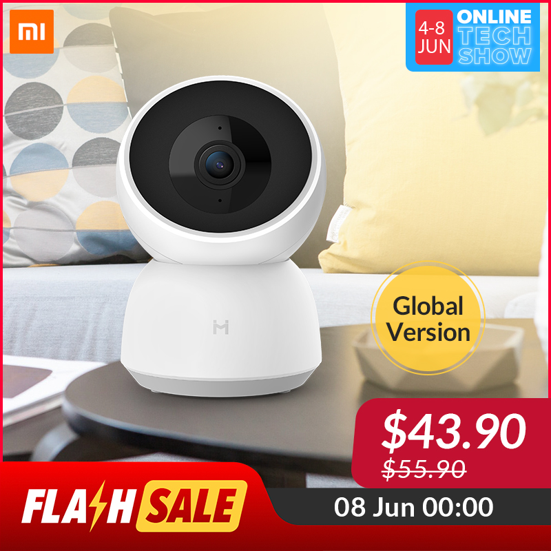 [2020 New Global Version] Xiaomi Mijia Imilab Cctv Camera A1 360 Degree 3 Million Hd Pixels Wireless Home Security Color Night Vision Ip Camera.
