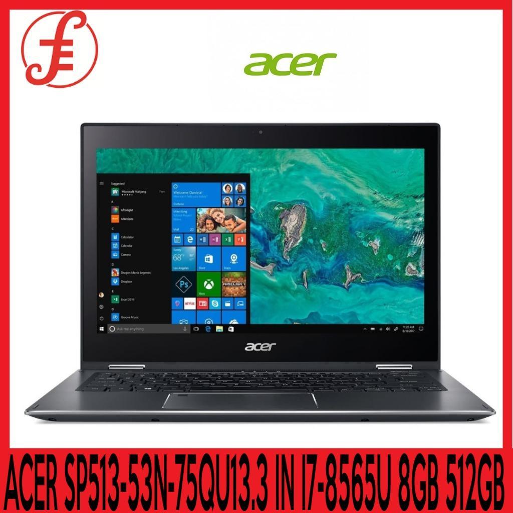 ACER SP513-53N-75QU 13.3 IN INTEL CORE I7-8565U 8GB 512GB SSD WIN 10 (SP513-53N-75QU)