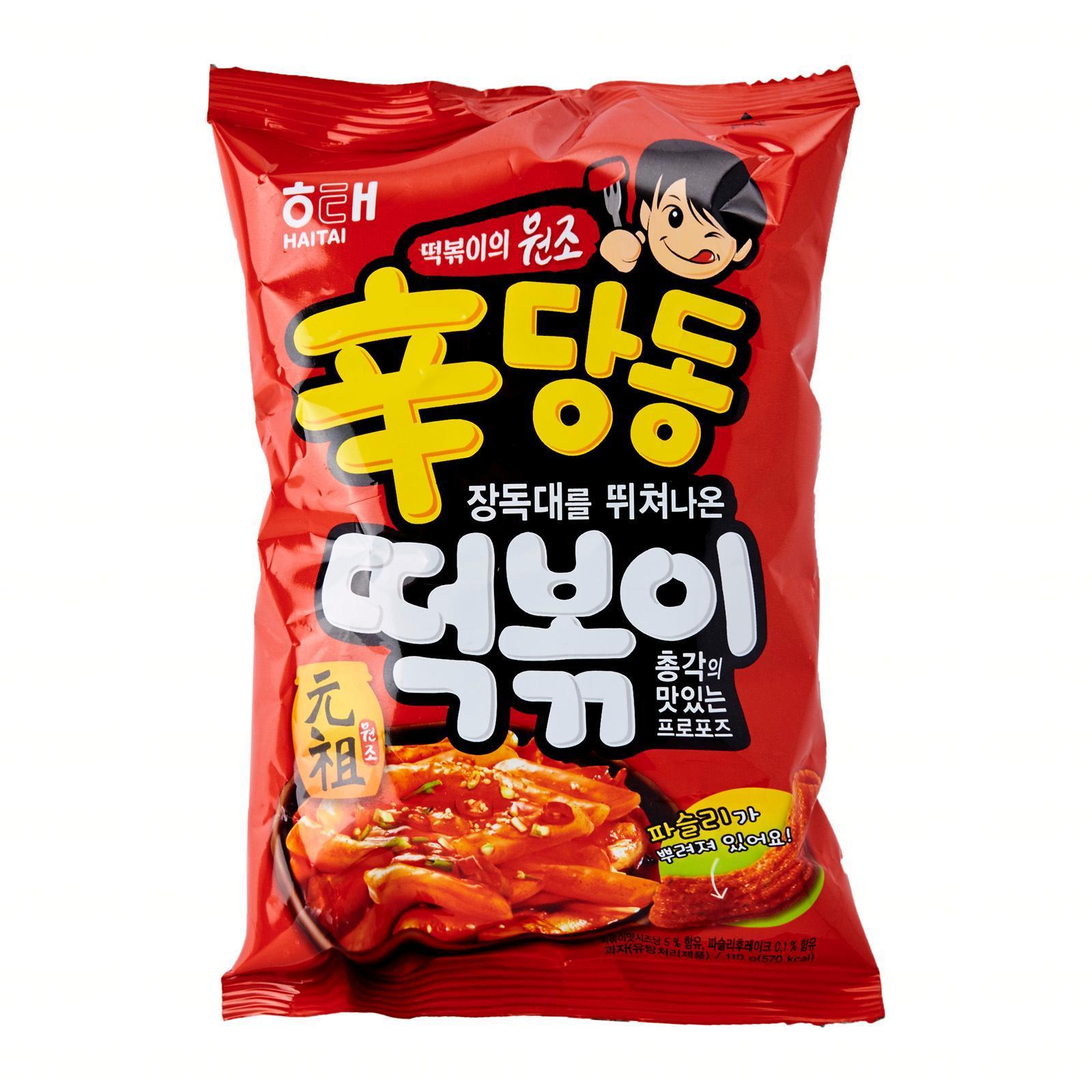 HaiTai Korean Sindangdong Spicy and Sour Tteokbokki Rice Cake Shaped Snacks