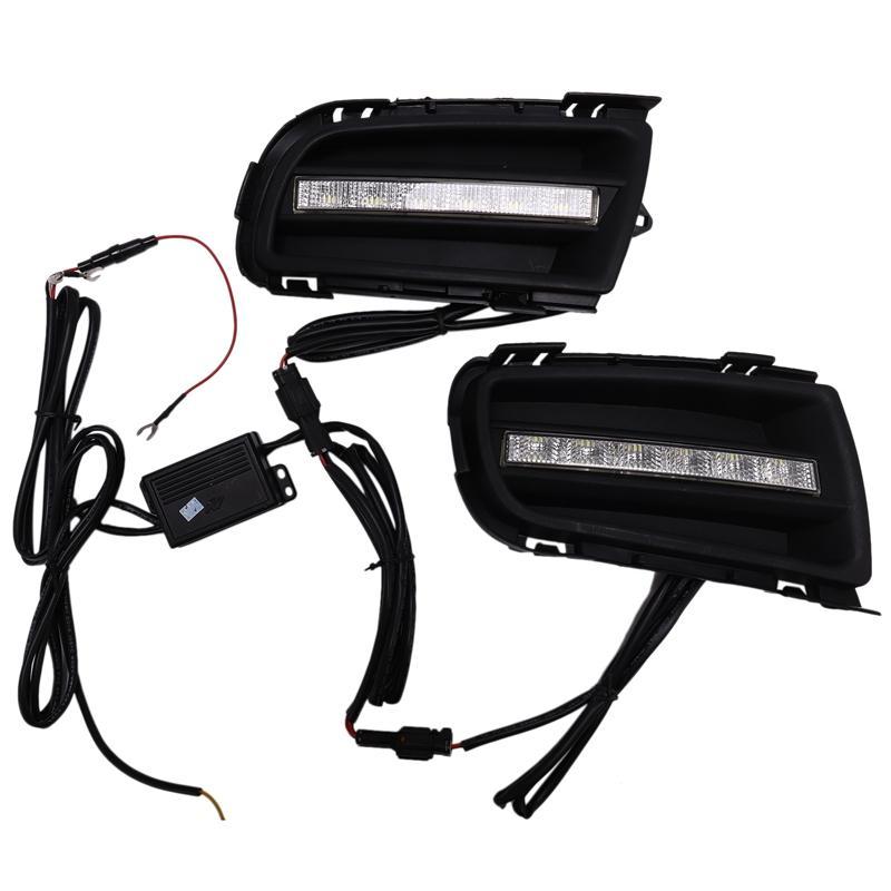 Car Daytime Running Light LED DRL Fog Lamp Driving Lights Front Bumper Accessories for Mazda 6 2006 2007 2008 2009