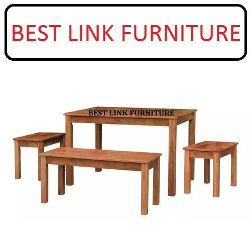 BEST LINK FURNITURE BLF 98 (1 + 1B + 2S) Solid Wood Dining Set