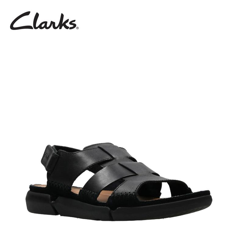 eb1f2b316ffc5 CLARKS Trisand Bay Black Leather Mens Casual Sandals Retail Sort 2