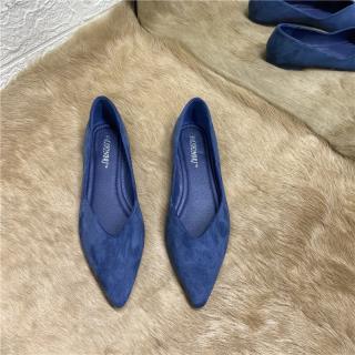 2021 Mùa Thu Mẫu Mới Dễ Phối Đầu Nhọn Mặt Da Giày Bệt Khoác Ngoài Giày Tods Áo Dạ Ngắn Giày Nữ Đế Mềm Giày Lái Xe thumbnail