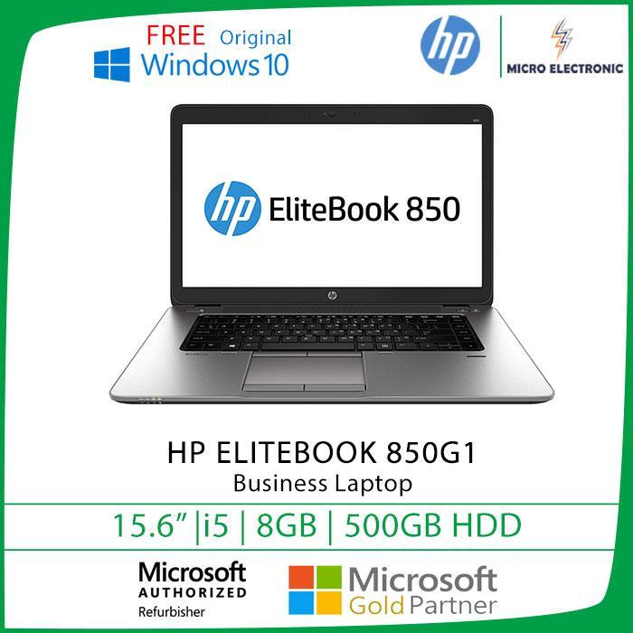 Hp Elitebook 850 G1 Business Laptop 15 6 HD Core i5-4th Gen 8GB RAM 500GB  HDD Win10 Refurbished PC Computer Digital Electronics Singapore