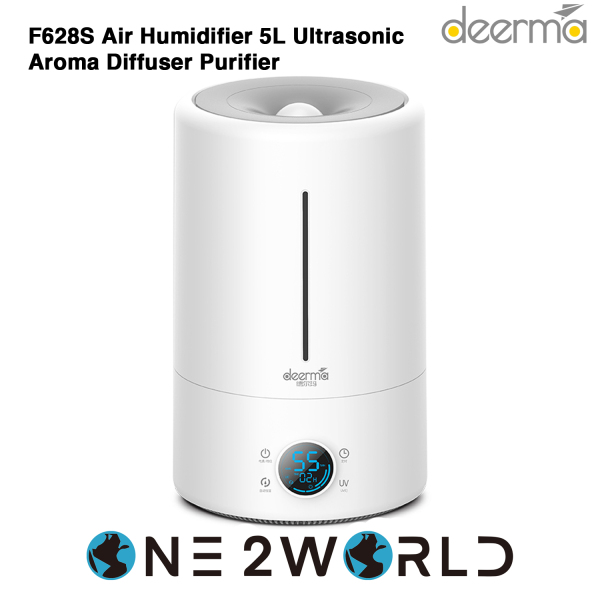 Deerma F628S Air Humidifier 5L Ultrasonic Aroma Diffuser Purifier Touch with Temperature Display Singapore