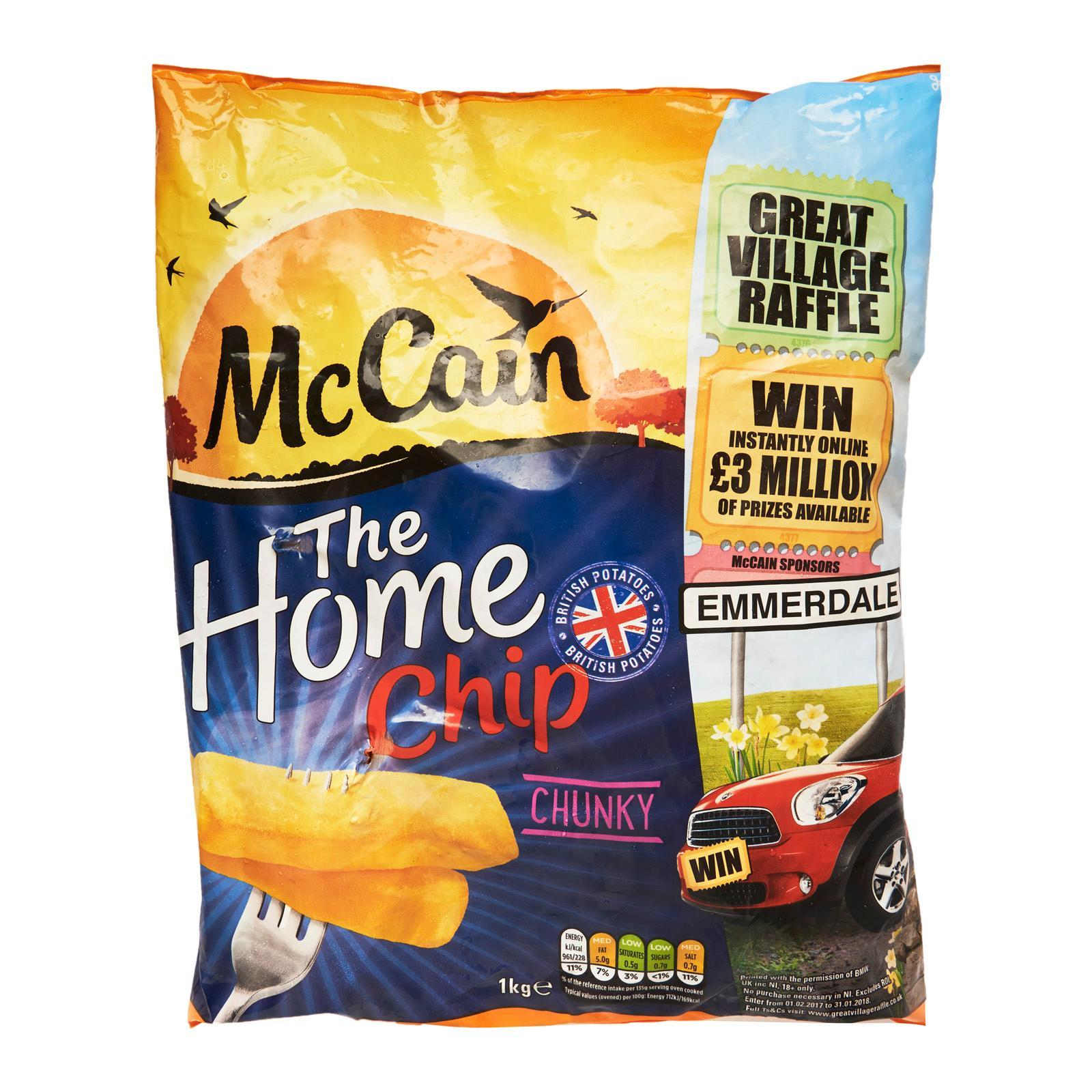 Mccain Home Chunky Cut Chips - Frozen By Redmart.