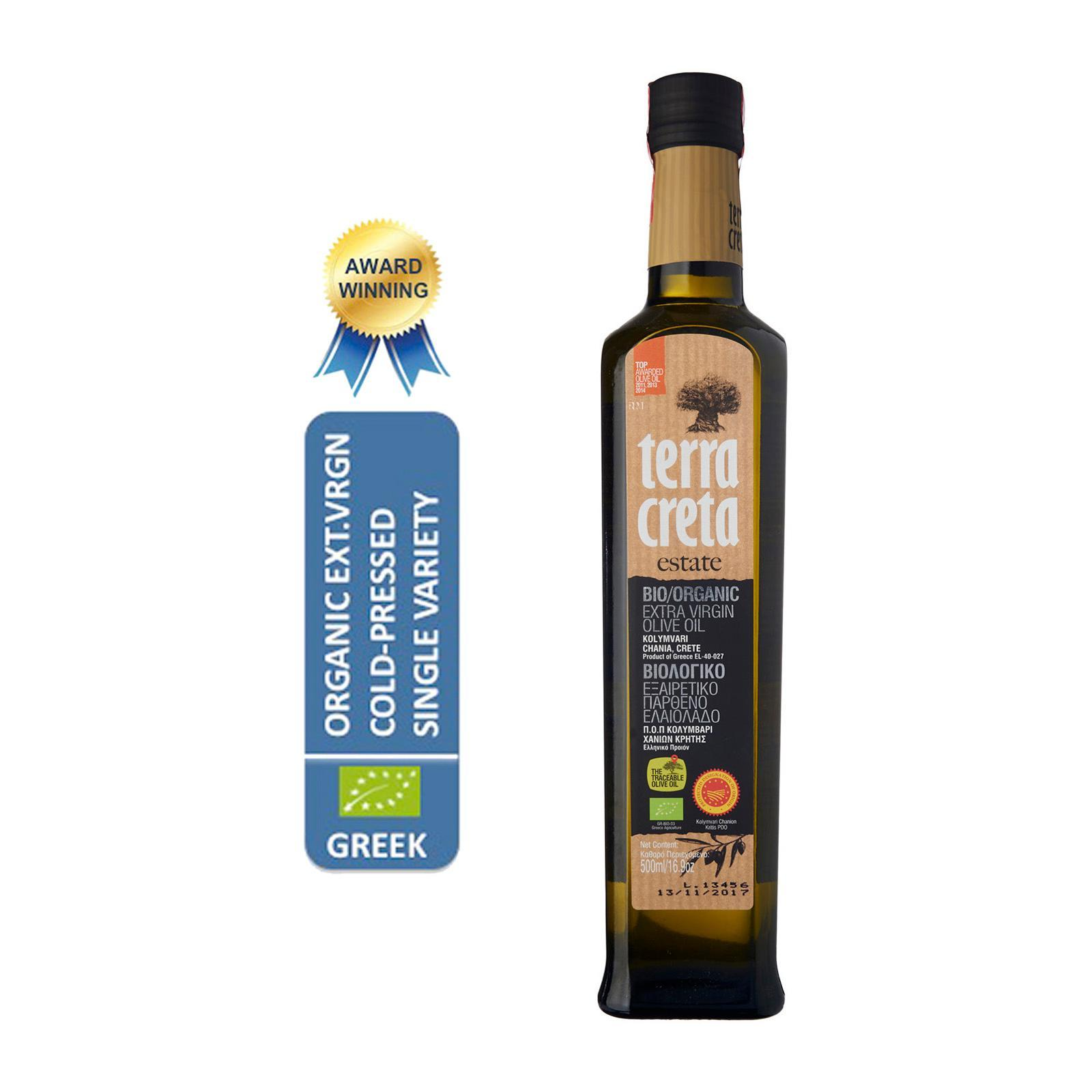 Terra Creta Estate Greek Organic Extra Virgin Olive Oil (Crete) - By Agora Products