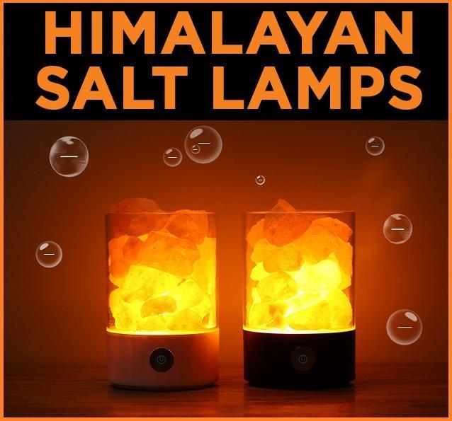 Himalayan Salt Lamp USB Plug Air Purifier Night Light Negative Ion Relief Stress