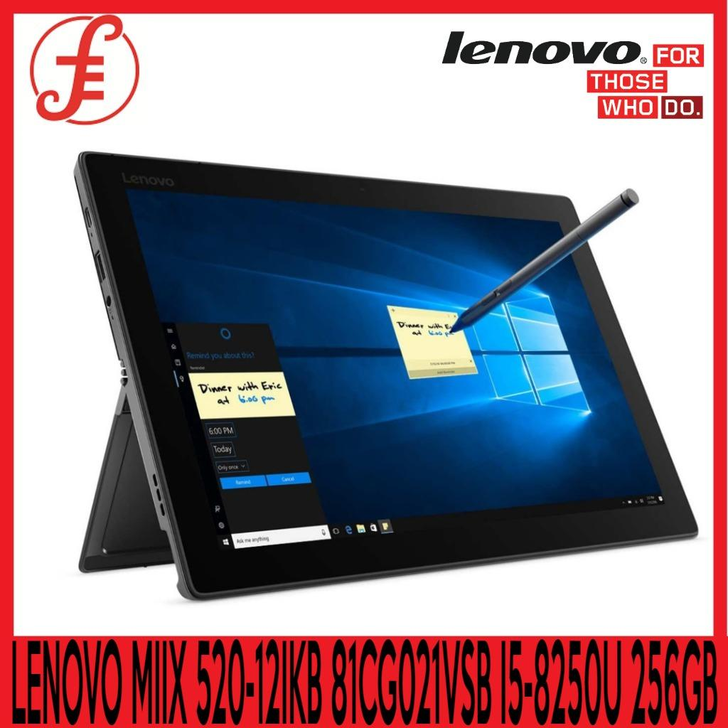 LENOVO MIIX 520-12IKB 81CG021VSB 12.2 IN I5-8250U 8GB 256GB SSD WIN 10 FREE WIRELESS BLUETOOTH SPEAKER WHILE STOCKS LAST (MIIX 520-12IKB 81CG021VSB)