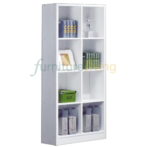 Furniture Living Bookcase (8 Compartments) White