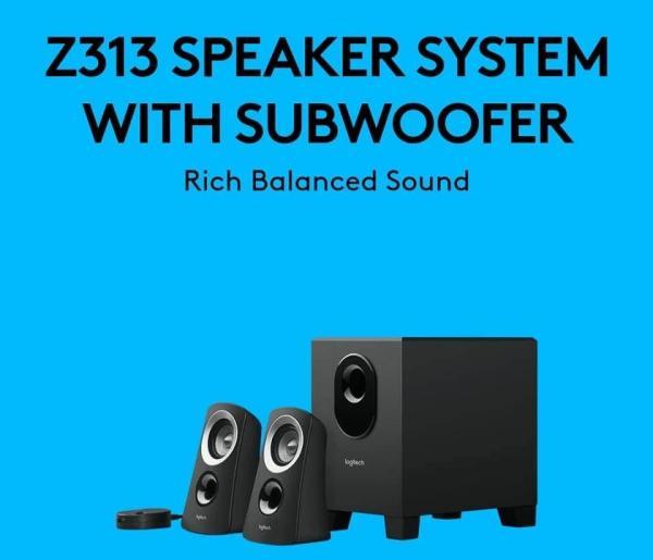 LOGITECH Z313 Multimedia Speakers 50 Watt, 2.1 Stereo Speakers with Subwoofer Rich Sound & Easy Controls [BEST PRICE]