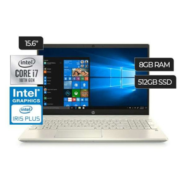 New model  2020 HP Same Day Delivery HP 15-cs3075wm Pavilion 15.6 Full HD Choose  i7-1065G7 or   i5-1035G1 8GB RAM(upgrade upto 32GB) 512GB SSD+ HDD option Win 10 Home Pale Gold 5G Wifi/Lan  In-build Webcam 1 year  warranty wireless mouse and Hp backpack