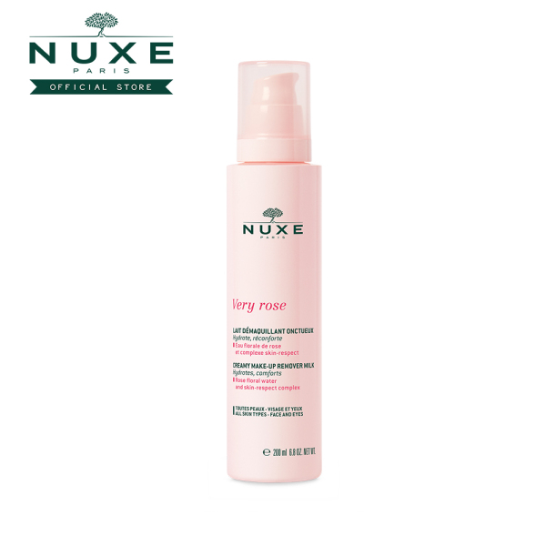 Buy NUXE Very Rose Creamy Make-Up Remover Milk (200ml) Hydrates, Comforts [All Skin Types] Singapore