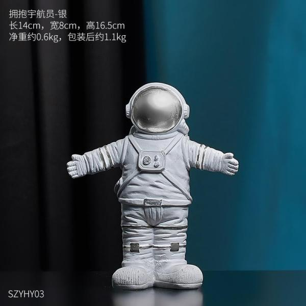 Northern Europe Creative Office Desk Surface Panel Astronauts Universe Planet Model Astronaut Decoration Table Soft Decoration Small