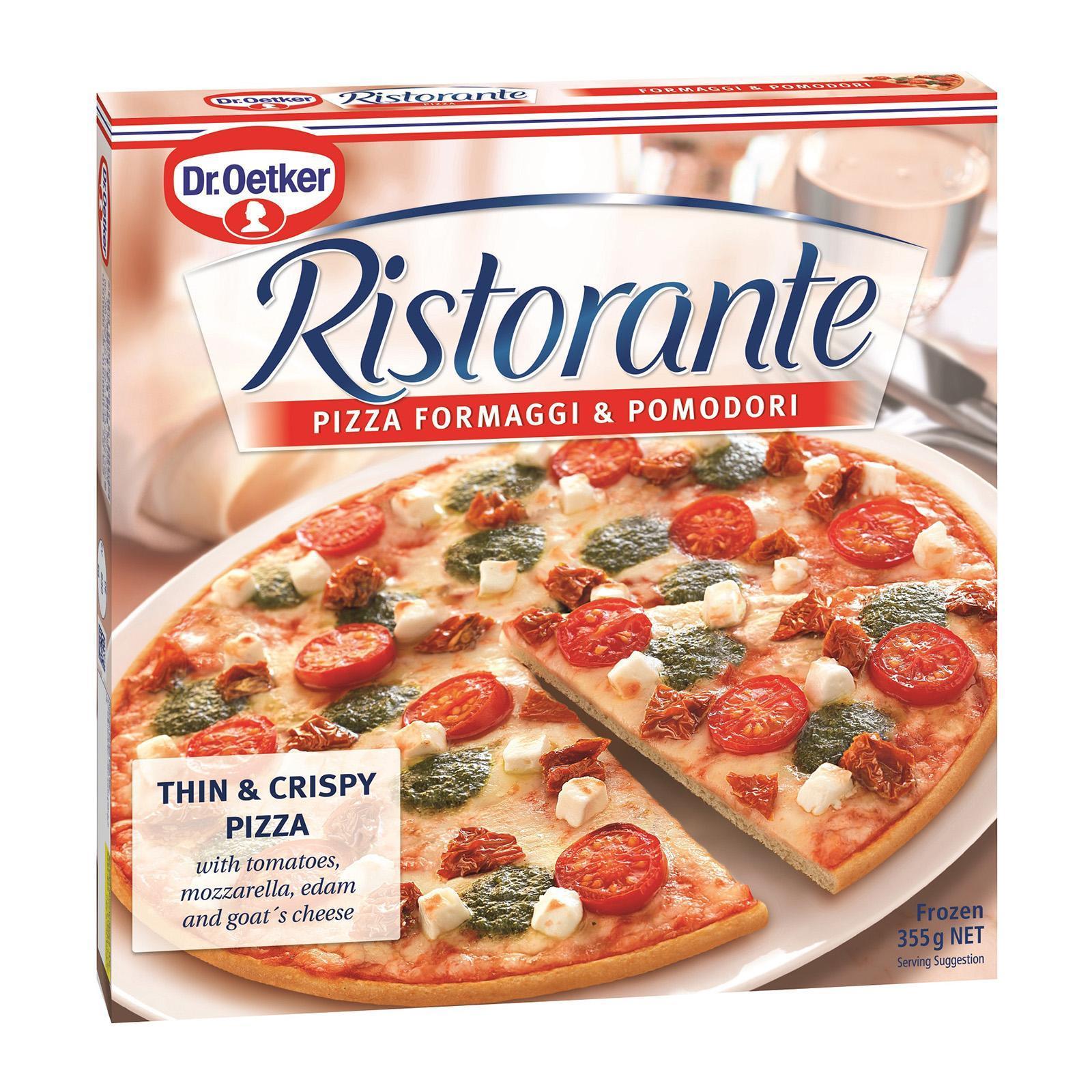 Dr Oetker Ristorante - Formaggi And Pomodori - Frozen By Redmart.