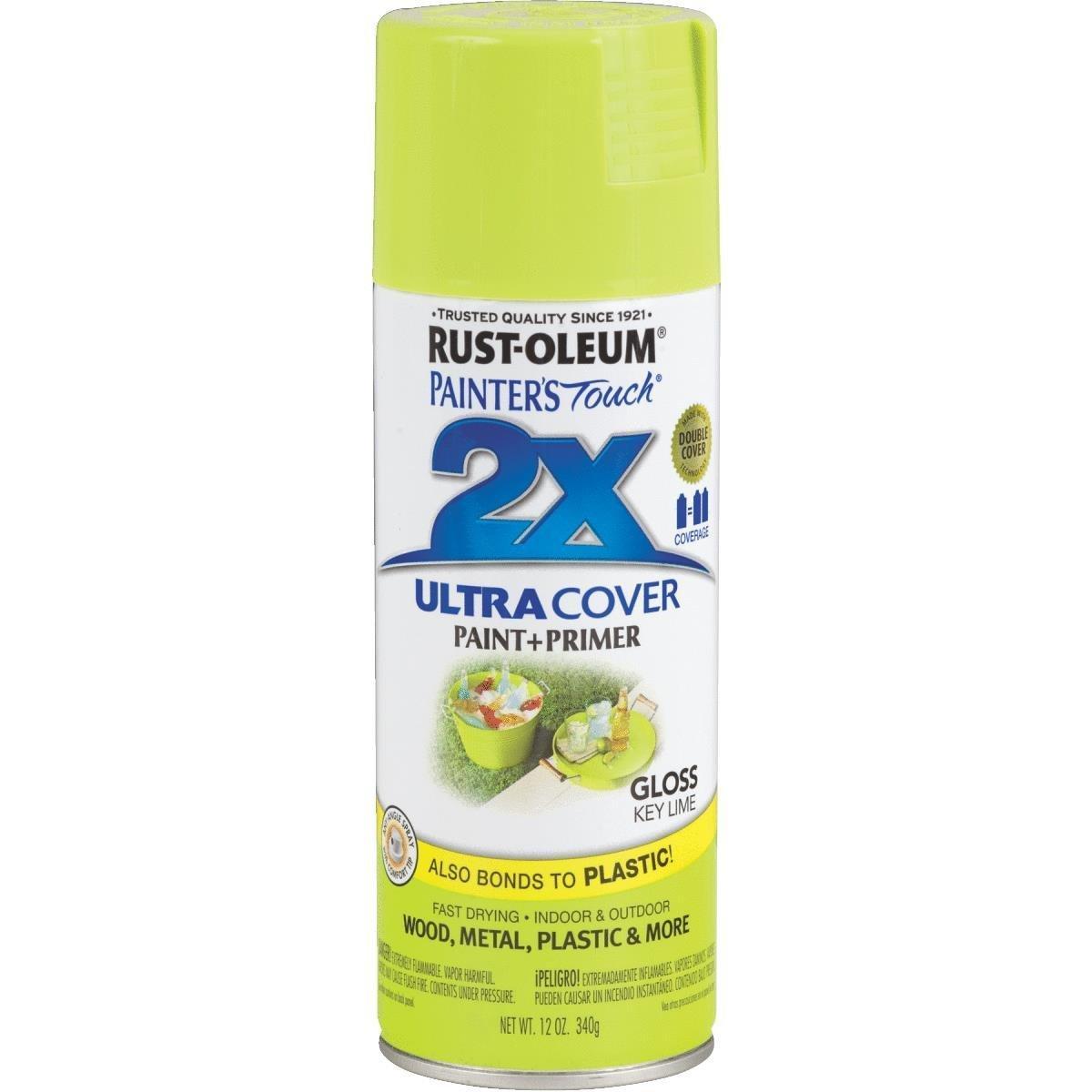 Rust-Oleum Ultra Cover 2X Spray Paint 12oz (Gloss Key Lime) RustOleum
