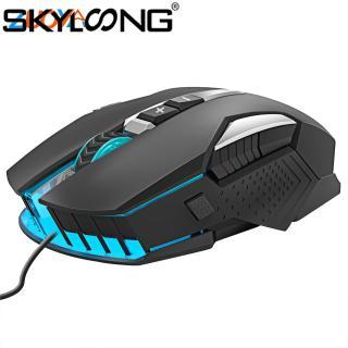 Chuột Skyloong ZUOYA Mr8 Có Dây, Hiệu Ứng Ánh Sáng RGB Dạ Quang Chuột Chơi Game Quang USB LED 4800DPI, Dành Cho Máy Tính thumbnail