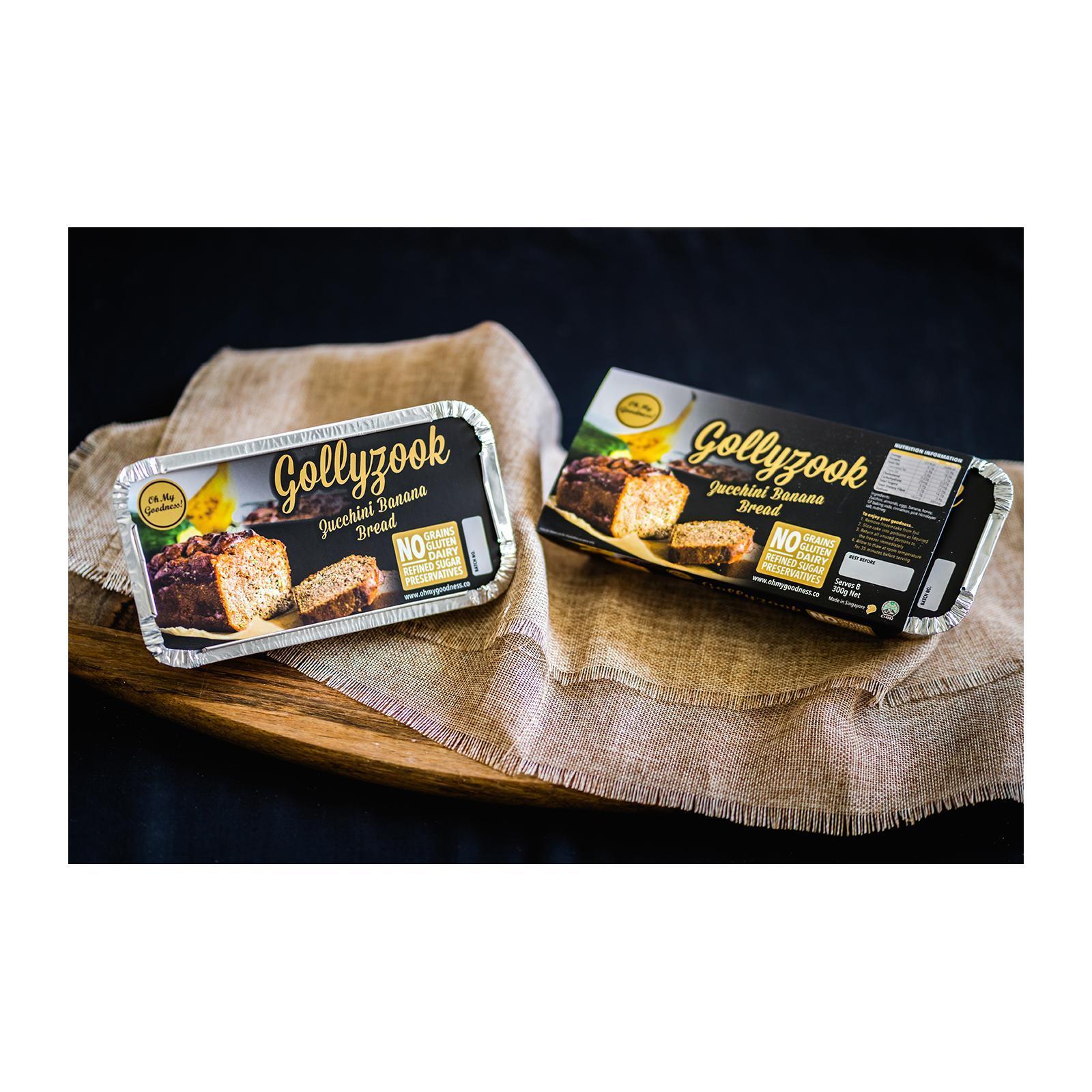Oh My Goodness! Gollyzook - Zucchini Banana Frozen Bread Loaf Gluten-Free Dairy-Free - Frozen