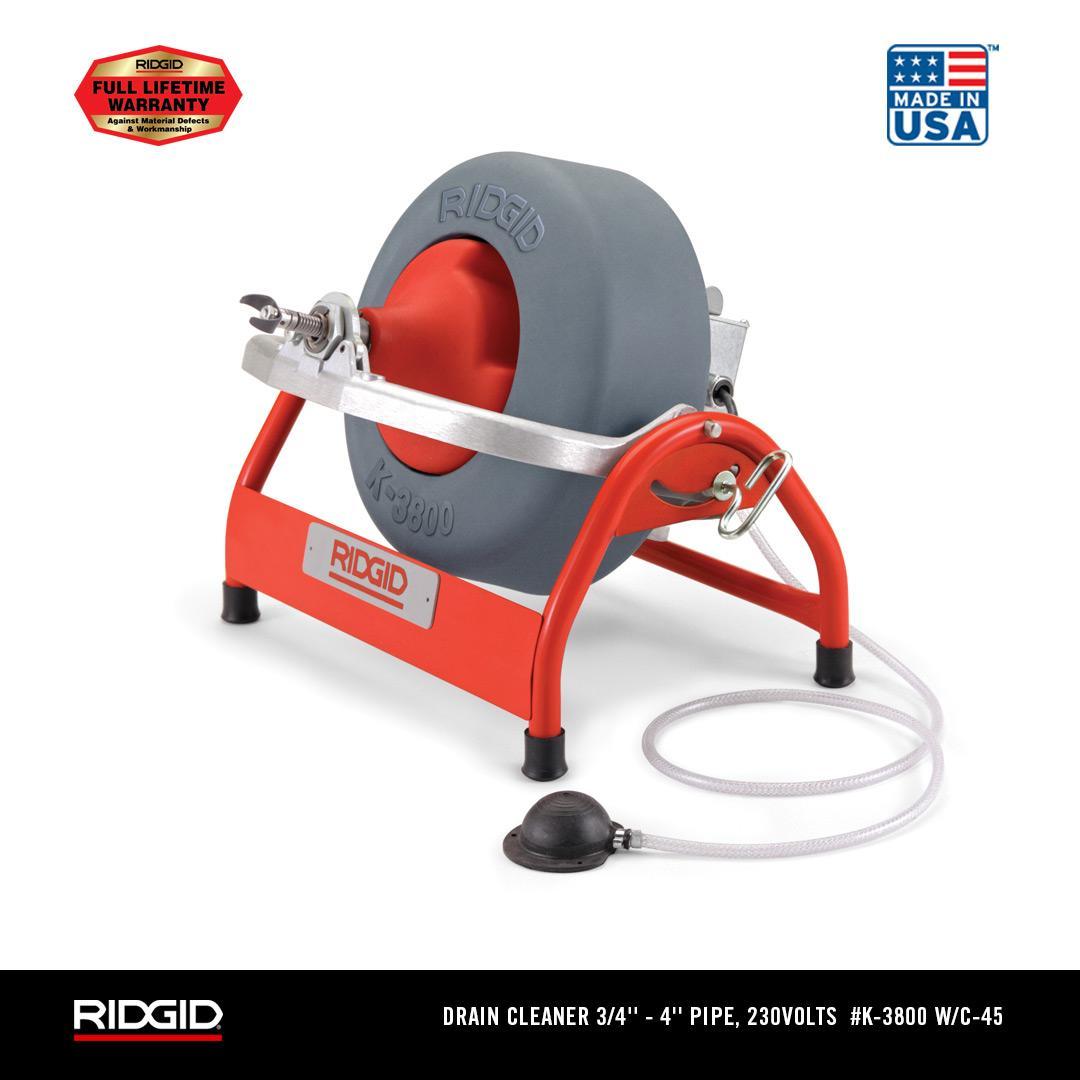 RIDGID K-3800 Drain Cleaning Drum Machine