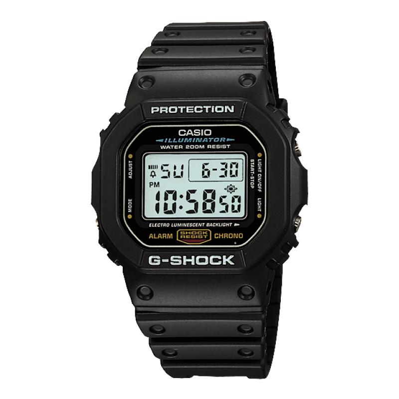 Casio G-Shock Classic Digital Black Resin Band Watch Dw5600e-1v Dw-5600e-1v By Watchspree.