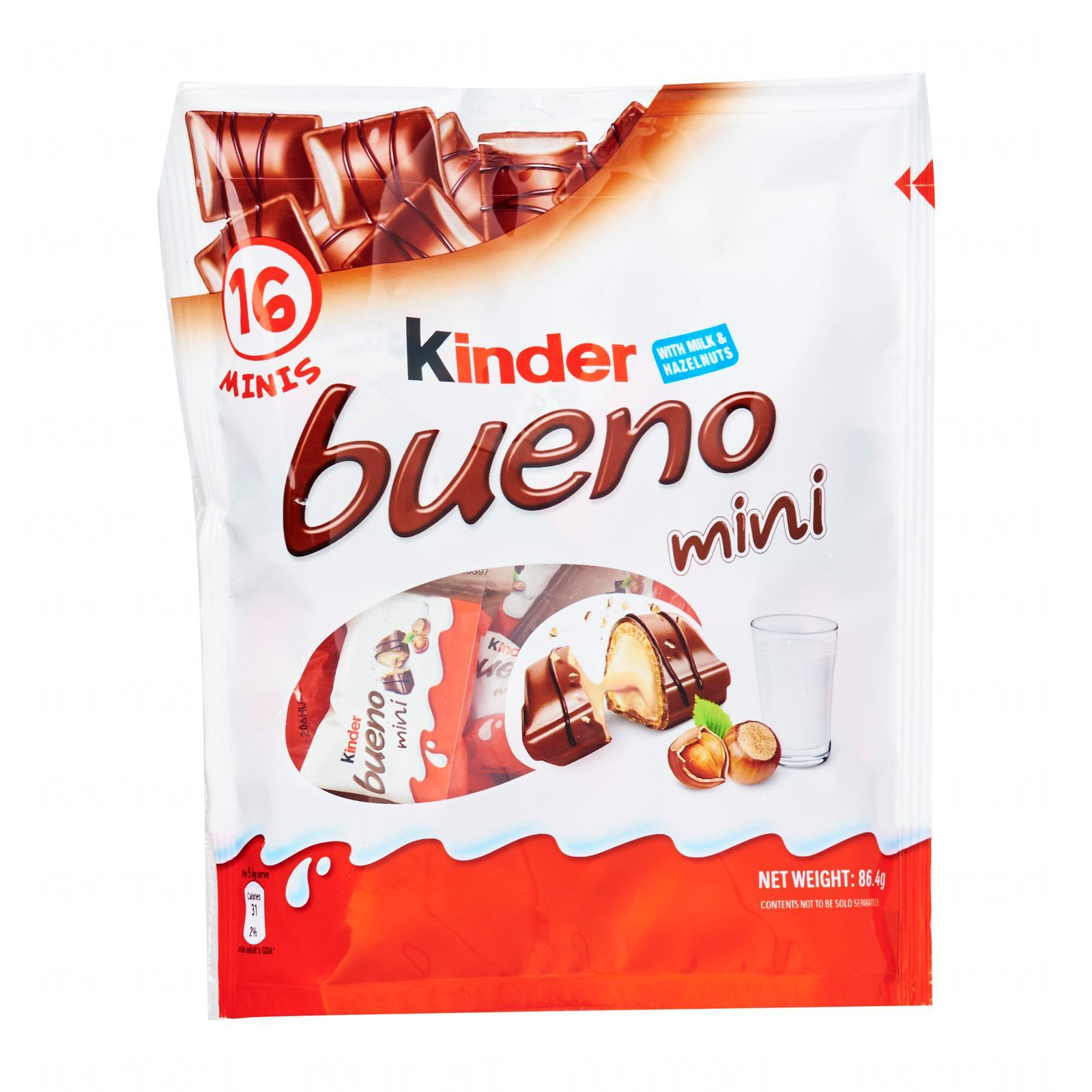 KINDER Bueno Mini Chocolates T16 86.4g