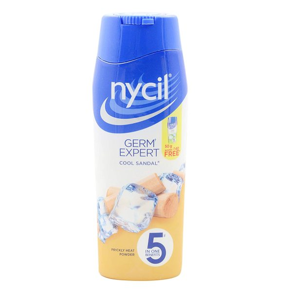 Buy Nycil Germ Expert Cool Sandal Prickly Heat Powder, 150g- 5 In One Benefits Singapore