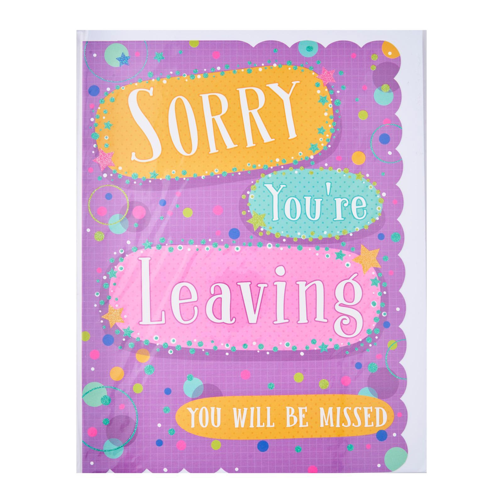 GOLDMARK Farewell Card - Sorry You're Leaving You Will Be Missed