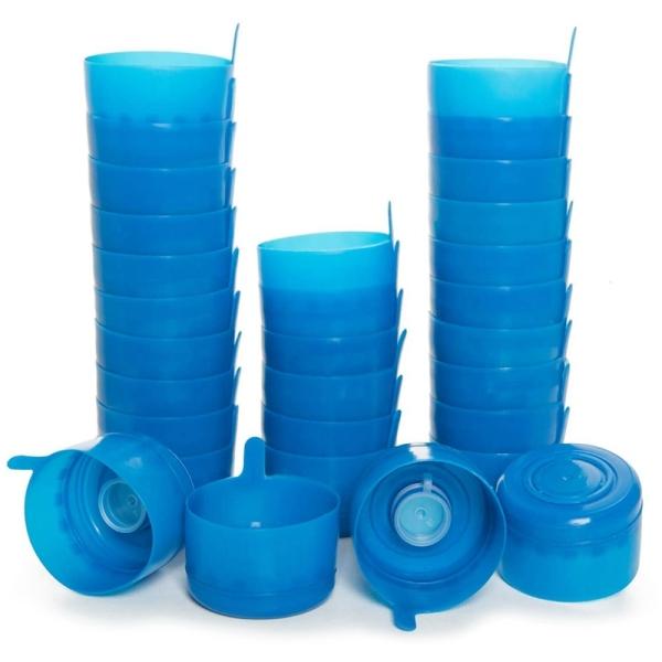30 Pack Non-Spill Bottle Caps Anti Splash Bottle Caps Reusable for Water Jugs Reusable Lids for Water Dispenser Jugs
