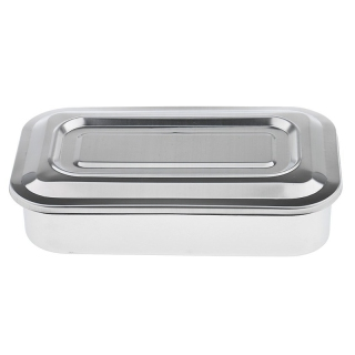 Stainless Steel Container Organizer Box Instrument Tray To Storage Box With Lid Tools Cans - 8 Inch thumbnail