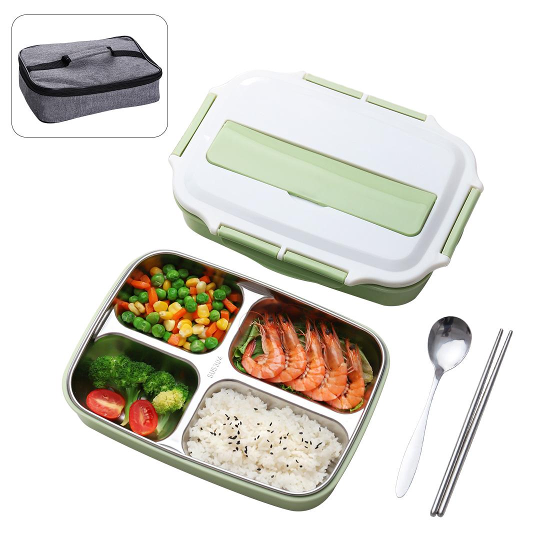 8f6d7d595a Thermal Lunch Box With Bag Set Stainless Steel Kid Adult Bento Boxs  Leakproof Japanese Food Container