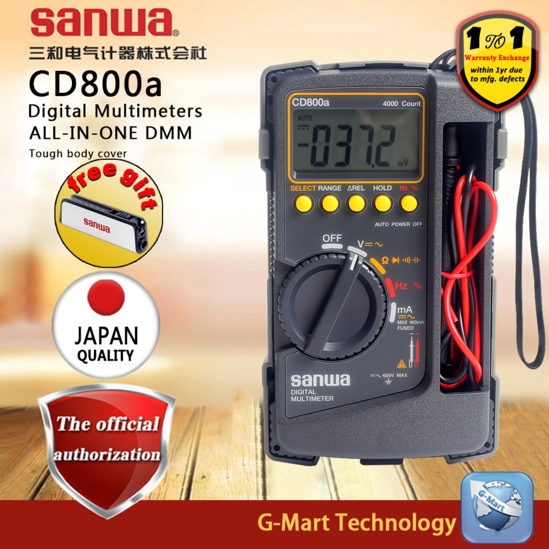 Sanwa Cd800a Digital Multimeter Dmm 4000 Volt Counter Tester Meter By G-Mart.
