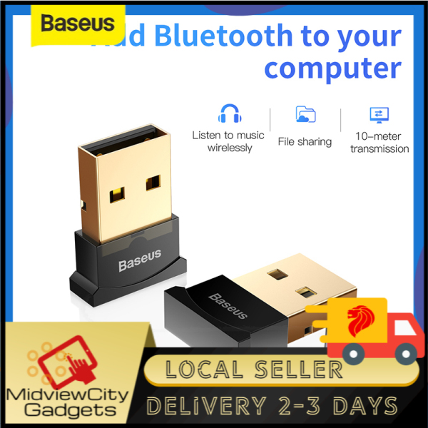 Baseus Wireless USB Bluetooth Adapter V4.0 Bluetooth Dongle Audio Receiver Transmitter For Wireless Mouse, Wireless Keyboard, Windows 10/8/XP/Vista/XBOX ONE S