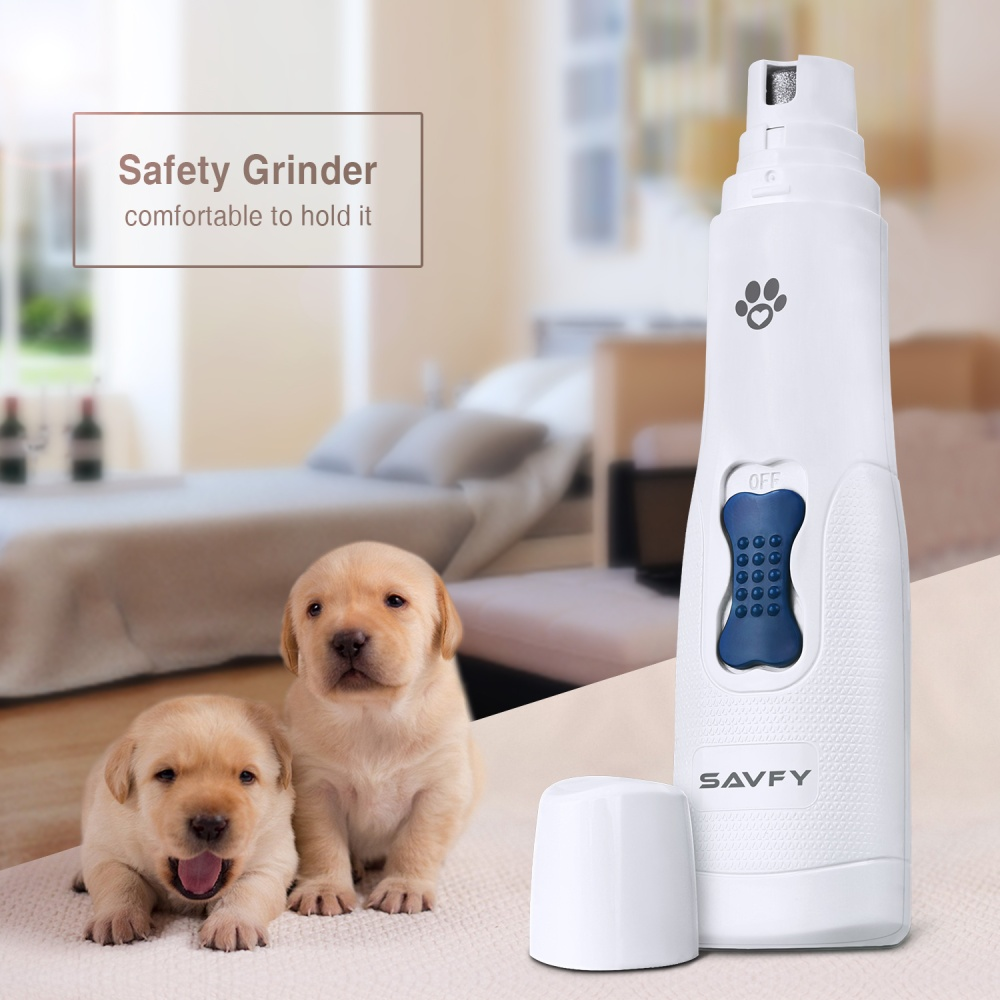 Savfty Electric Dog Nail Grinder Clippers Nail File Cat Claw Grooming Pet Trimmer Tool.