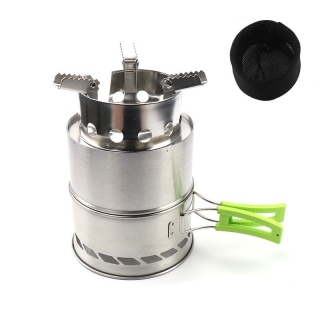 Outdoor Camping Equipment Windproof Wood Stoves Furnace Deconstructable Portable Picnic Stoves Cooking Gas Burner thumbnail