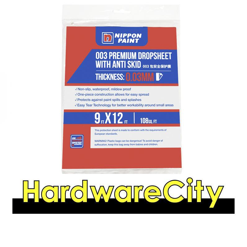 Nippon Paint Diy Plastic Drop Sheet 9ft X 12ft [pkt Of 6] By Hardwarecity Online Store.