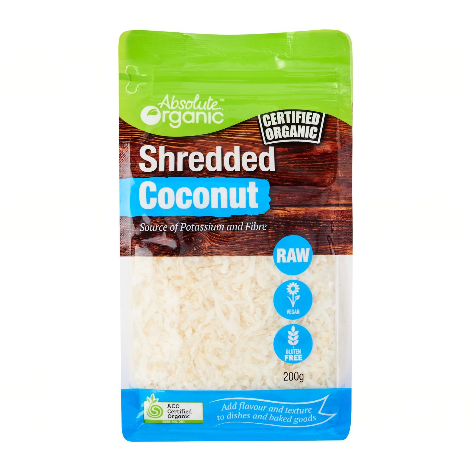 Absolute Organic Shredded Coconut - By Wholesome Harvest